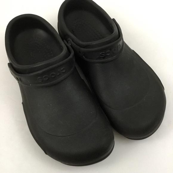 4a0c6029359d0 CROCS Shoes | Black Slip On Clogs Roomy Fit Mens 12 | Poshmark